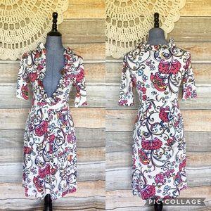 Lilly Pulitzer Snail Floral Print Silk Blend Dress